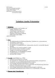 Techniken visueller Präsentation ( .pdf ) - Bildungsstudio