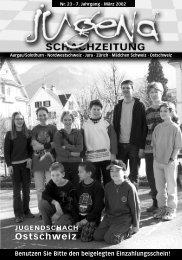 Nr. 23 März 2002 - Nordwestschweizer Schachverband