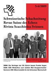 5-6/2009 Schweizerische Schachzeitung Revue Suisse des Echecs ...
