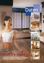 Mediadaten 2005/06 - Bauen und Wohnen Plattform