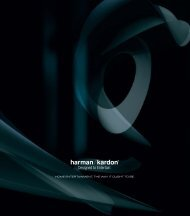 HOME ENTERTAINMENT, THE WAY IT OUGHT ... - Harman Kardon