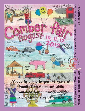 2012 Fair Book (pdf) - Comber Fair