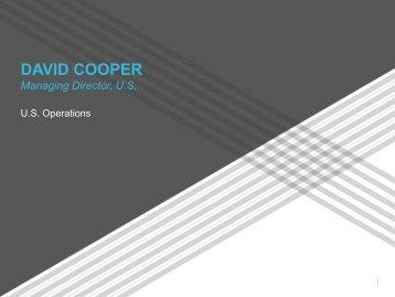 DAVID COOPER Managing Director, U.S.