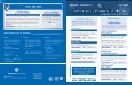 general information for Day Tours fESTivE DAy TOuRS - Anderson ...