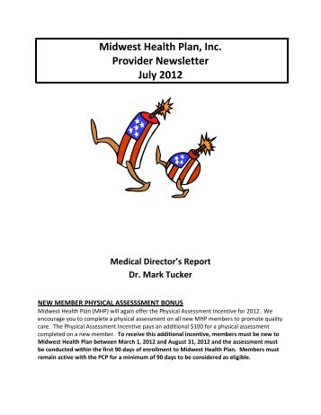 Midwest Health Plan, Inc. Provider Newsletter July 2012 Medical ...