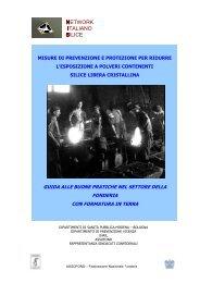 Gestione delle esposizioni a Silice libera cristallina respirabile: guida alle buone pratiche nel settore della fonderia con formatura in terra