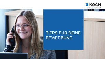 TIPPS FÜR DEINE BEWERBUNG