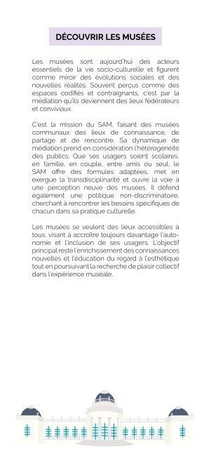 Brochure des Animations des musées pour tout public - Edition 2020-2021