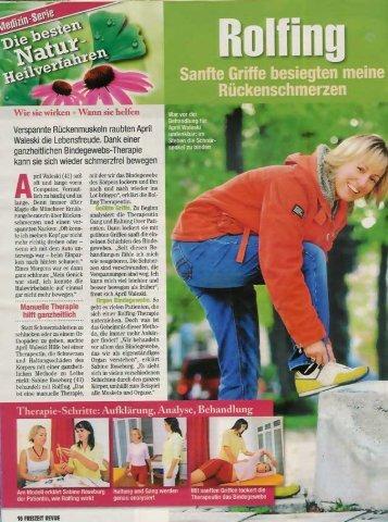 Freizeit Revue - ROLFING Sabine Roseburg
