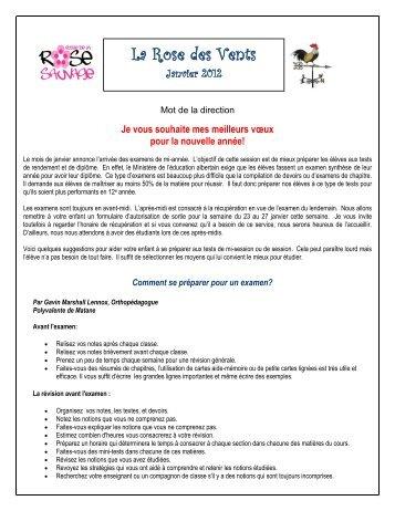 La rose des vents janvier 2012 - Conseil scolaire du Sud de l'Alberta