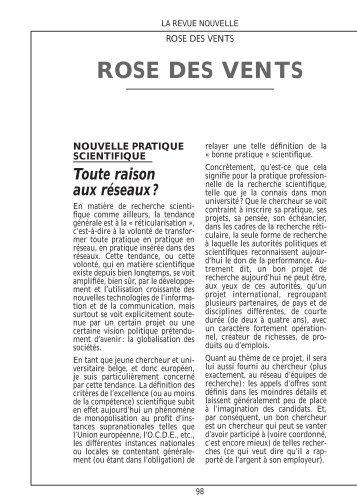 098-101 Rose des vents -4p - La Revue nouvelle