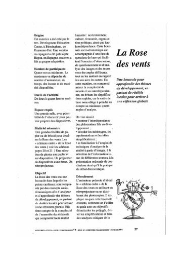 La rose des vents - Starting Block