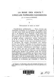 LA ROSE DES VENTS '1) CHEZ LES NOMADES SAHARIENS - Refer