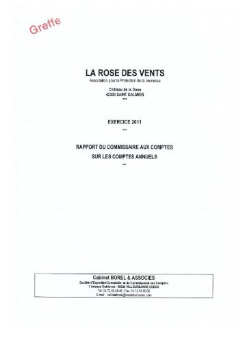 LA ROSE DES VENTS - Journal Officiel