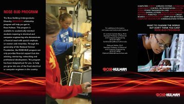 ROSE-BUD PROGRAM - Rose-Hulman Institute of Technology