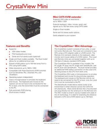 CrystalView Mini - Rose Electronics