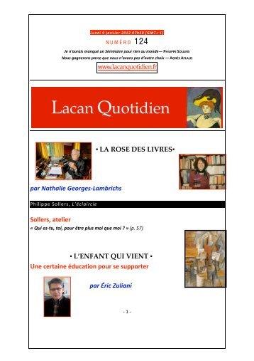 www.lacanquotidien.fr LA ROSE DES LIVRES par Nathalie Georges ...