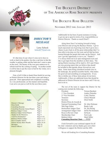 Fall Newsletter 2012 - Buckeye District