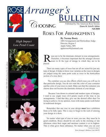 Arranger's Bulletin - American Rose Society