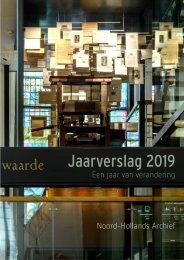 Jaarverslag 2019 Noord-Hollands Archief