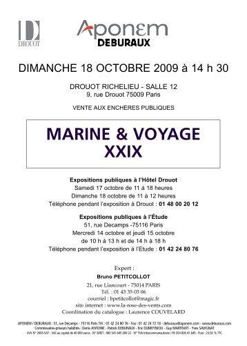 MARINE & VOYAGE XXIX 14 h 30 - La Rose des Vents antiquités de ...