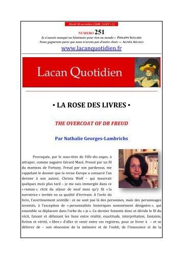 LA ROSE DES LIVRES - Lacan Quotidien