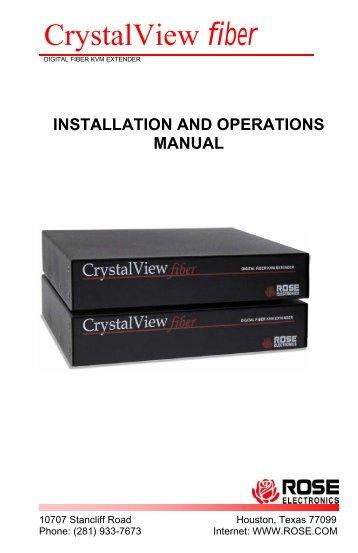 CrystalView fiber - Rose Electronics