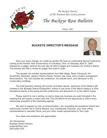 The Buckeye Rose Bulletin - Buckeye District