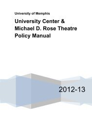 University Center & Michael D. Rose Theatre Policy Manual