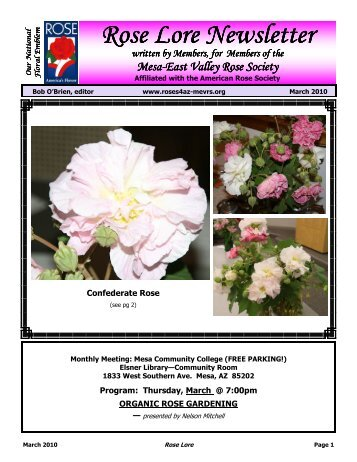 March 2010 - Mesa-East Valley Rose Society