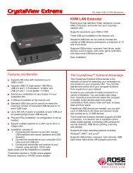 KVM LAN Extender - Rose Electronics