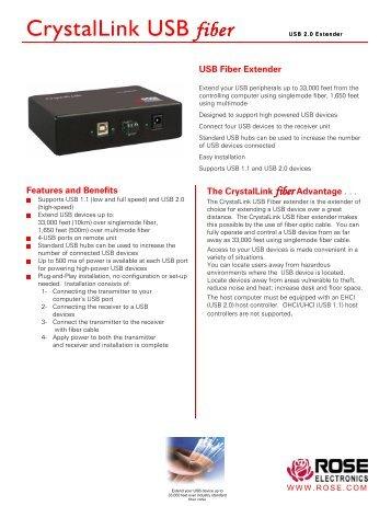 CrystalLink USB fiber - Rose Electronics