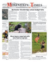 Mountain Times - Volume 49, Number 28 - July 8-14, 2020