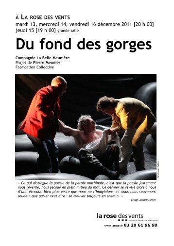 DU FOND DES GORGES:IMPORT EXPORT - La Rose des Vents