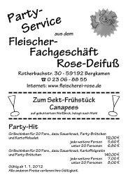 Zum Drucken: Preisliste als PDF - Partyservice Rose-Deifuß