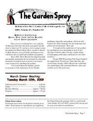 GardenSpray 0309.indd - Men's Garden Club of Minneapolis