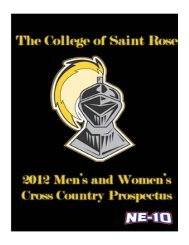 2011 Women's Final Results - The College of Saint Rose Athletics