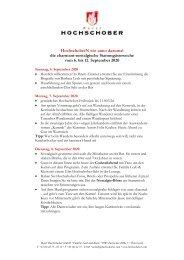 HS Programm Stammgaestewoche 2020