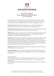 HS Programm Trendsportwochen 2020