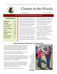 Chatter in the Woods - Townsite of Redwood Meadows