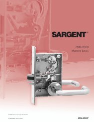 7800/8200 Mortise Locks Functions - Sargent Locks
