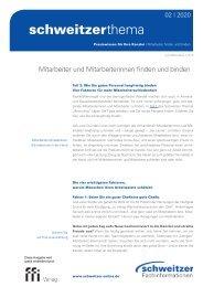 Schweitzer Thema 02/20: Mitarbeiter und Mitarbeiterinnen finden und binden