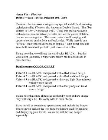 Aasen Vev – Flensvev Double Weave Textiles ... - Nordic Home