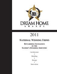 National Winning Firms - Dream Home Awards