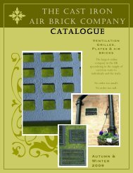 the cast iron air brick company catalogue - Brass Air Vents and ...