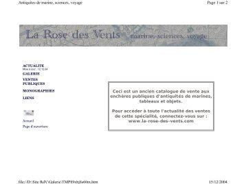 Ceci est un ancien catalogue de vente aux - La Rose des Vents ...