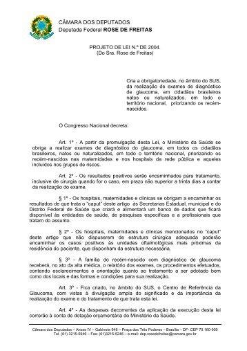 CÂMARA DOS DEPUTADOS Deputada Federal ROSE DE FREITAS