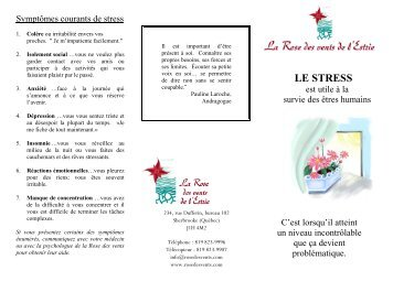 LE STRESS - Rose des vents