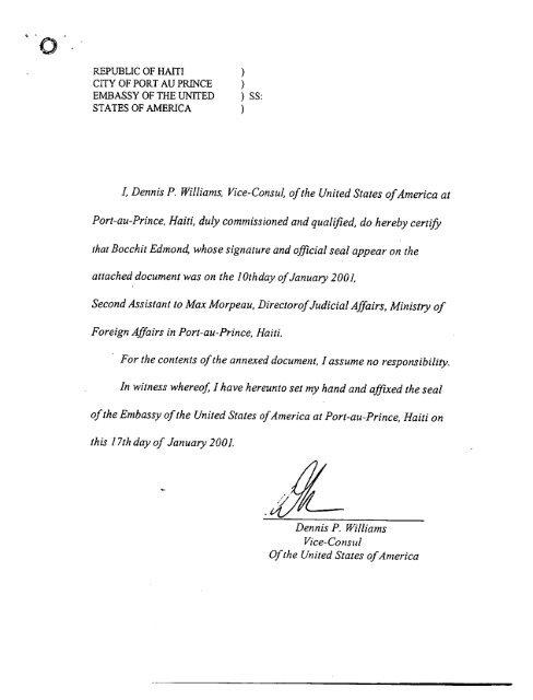 Minutes of Raboteau Criminal Trial 16 Nov 2000
