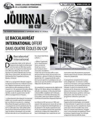 écoles sud-est c.-b. - Conseil Scolaire Francophone